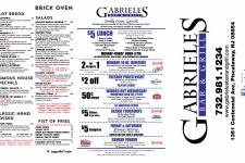 GABRIEL'S TO GO MENU- PRINT OUTSIDE