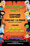 GABRIELE'S- OCTOBER 28TH- KIDS COSTUME CONTEST