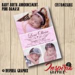 SQUARE- BIRTH ANNOUNCEMENTS