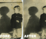 GRANDMA- BLACK&WHITE RESTORED-2- BEFORE & AFTER