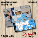 BRIDAL SHOWER INVITATION- PARIS