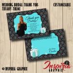BRIDAL SHOWER THANK YOU CARD- TIFFANY STYLE