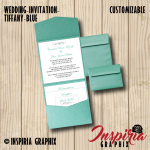 WEDDING INVITATION- TIFFANY BLUE POCKETFOLD
